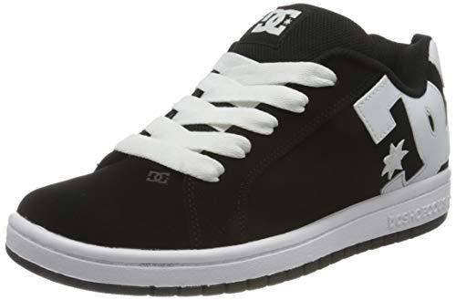 DC Shoes Court Graffik, Zapato de Skate Niños, Black/White, 35 EU