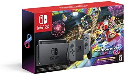 Nintendo Switch w Gray Joy Con Mario Kart 8 Deluxe Full Game Download Switch product image