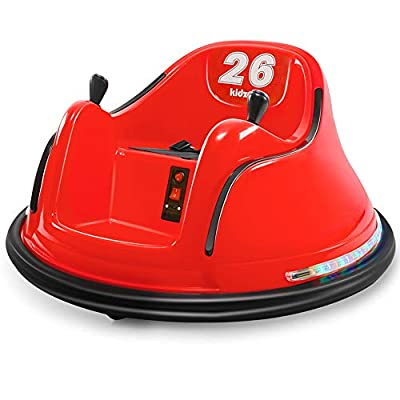 Kidzone DIY Race #00-99 6V Kids Toy Electric Red Ride On Bumper Car Vehicle Remote Control 360 Spin ASTM-Certified