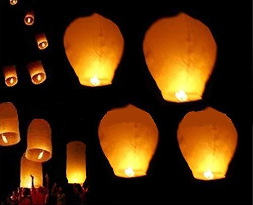 COOLMP Lot de 12 - Lanterne Volante Chinoise brà»Leur fixé Blanc Haut de Gamme