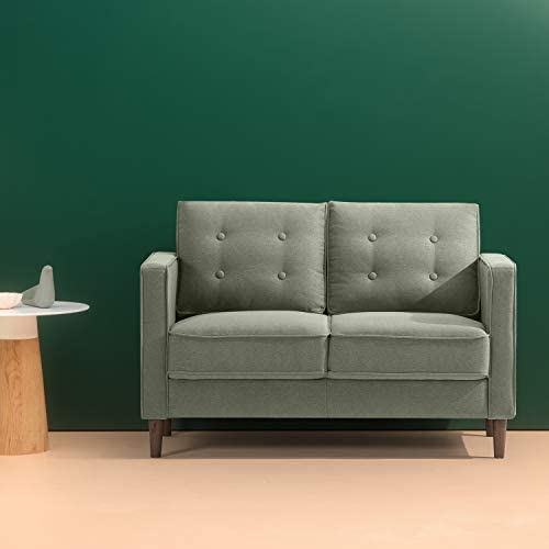 Best Zinus Lauren Mid-Century Upholstered 52 Inch Sofa Couch / Loveseat, Pear Green
