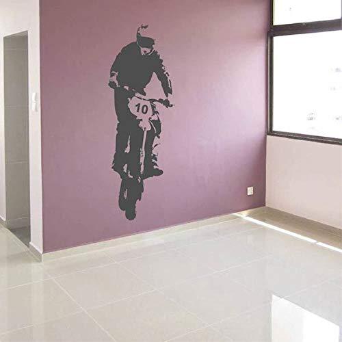 Geiqianjiumai Individualiseerbaar genummerde fiets-muursticker vinyl muurtattoos hoogwaardig tattoo-behang verkrijgbaar