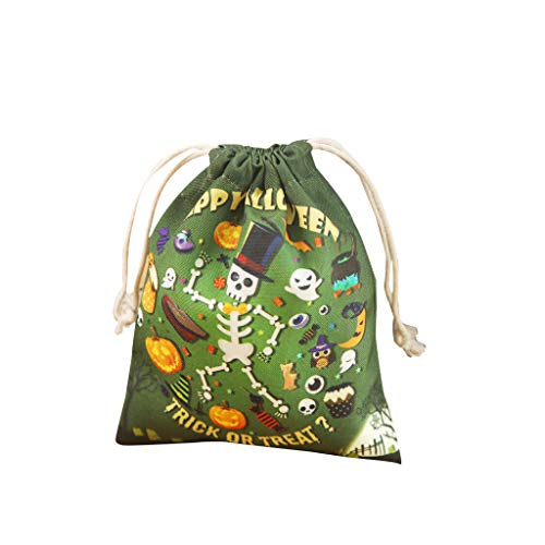Halloween Treat Bags Candy Bags Trick or Treat Bags with Different Designs for Festival Party Gift Favor (F)