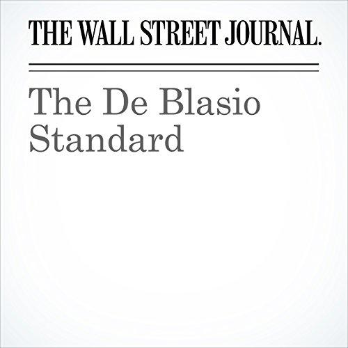 The De Blasio Standard copertina