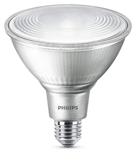 Philips 8718696713525 A+, LED Classic 60W PAR38 WW 25D ND Srt/4, Glas, 9 watts, E27, klar, 12.2 x 12.2 x 1.34 cm