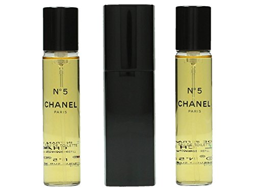 Chanel No5, femme/woman, Eau de Toilette, 20 ml + 2 Nachfüller, je 20 ml
