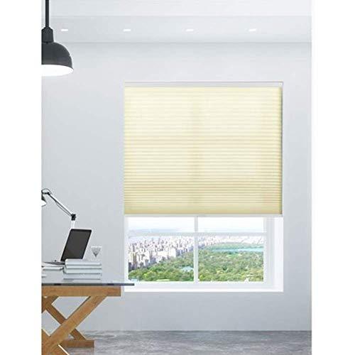 Jsmhh - Paralumi traslucidi per finestra, leggero, non sbiadisce, controllo senza fili, fornisce sicurezza anti UV, personalizzabile (colore: giallo, dimensioni: 100 x 180 cm), Giallo, 100x120cm
