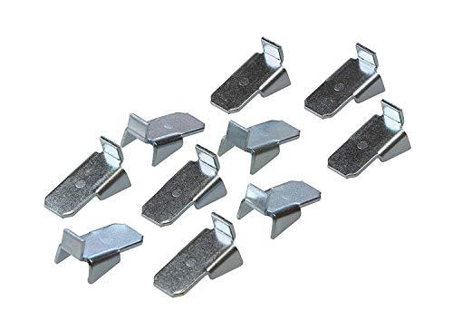 Gedotec Tablarträger Metall Regal-Bodenträger zum Einhängen in Schiene - VARI 10 | Stahl verzinkt...