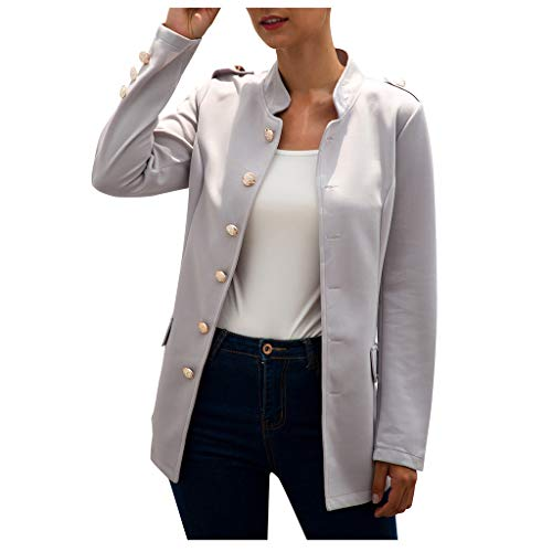 FRAUIT dames knoop revers mantel slim fit trenchcoat jas dames-kantoor slijtage mantel blouse elegant lange mouwen blazer color monochrome winkel kantoor jas korte mantel pakken bolero met tas