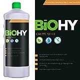 BIOHY Creme Seife 1 Liter Flasche - Flüssige Creme-Seife/Handseife Rückfettend ohne Parfüm oder...