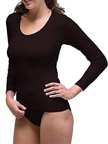 RAPIFE Pack 2 - Camiseta Interior Manga Larga térmica Mujer (Negro, XL)