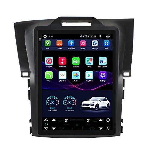 Kilcvt Navegación por Satélite para Automóviles, 9 Pulgadas/Android 10 Navegación GPS para Automóvil, para Honda CRV 12-16 Soporte De Pantalla Vertical Control del Volante/Bluetooth,4g WiFi 2g+32g