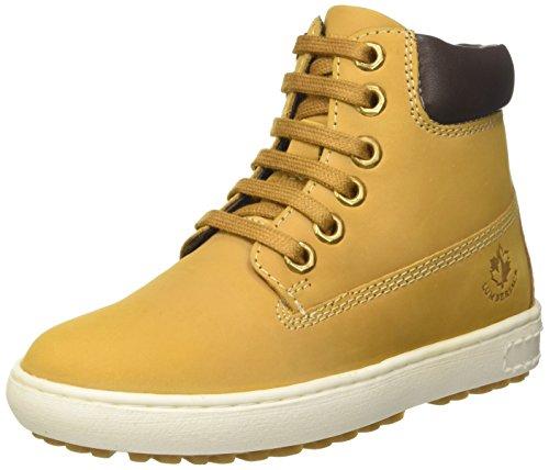 lumberjack Jungen Oklahoma Hohe Sneaker, Giallo Yellow Dk Brown, 31 EU