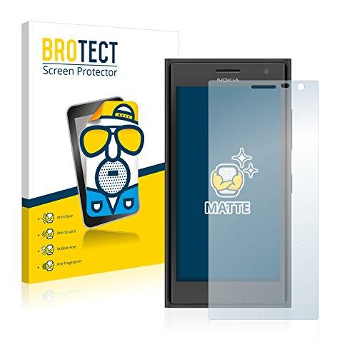 BROTECT 2X Entspiegelungs-Schutzfolie kompatibel mit Nokia Lumia 730 Dual SIM Bildschirmschutz-Folie Matt, Anti-Reflex, Anti-Fingerprint