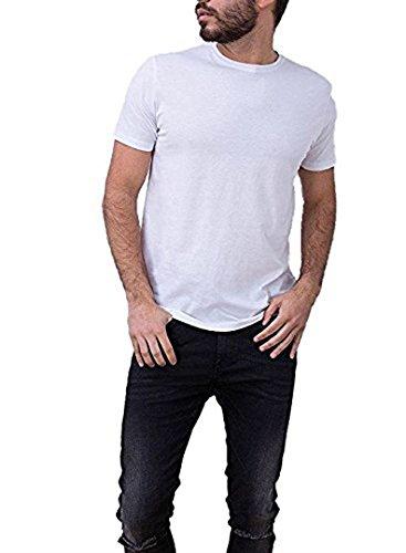 Tiffosi Camiseta Blanca Hombre Basica Barton Manga Corta