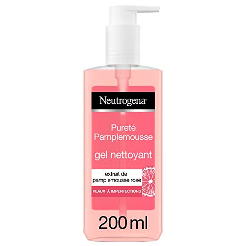 Neutrogena Visibly Clear Gel Grapefruit Pink - Gesichtsreinigungscreme gegen Unvollkommenheiten - 1 x Pumpflasche 200 ml