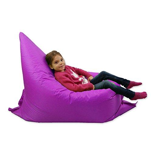 MaxiBean Kids Beanbag 6 way Large Garden Lounger Childrens Bean Bag Outdoor Water Resistant Floor Cushion Purple