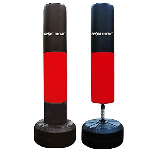 Sport-Thieme Standboxsack für Erwachsene u.Kinder | Gefüllter, Stabiler, freistehender Boxpartner mit Ständer | Für Boxing, Kickboxen, MMA | H: 153 cm, Gewicht gefüllt 37,5 kg