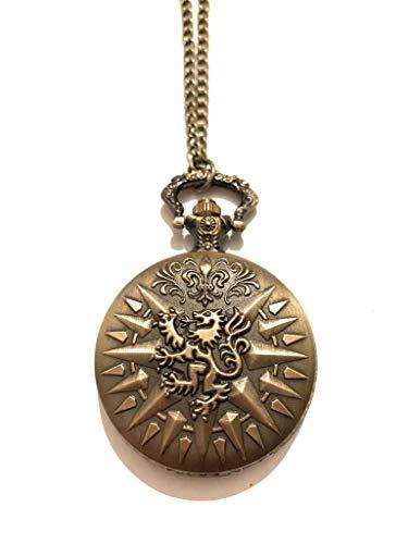 giulyscreations Reloj de Metal Sin Níquel. casa Lannister Escudo León Game of Thrones Juego de Tronos- Lobo Hear Me Roar cercei Tyrion Jamie Fantasy Pop Cosplay