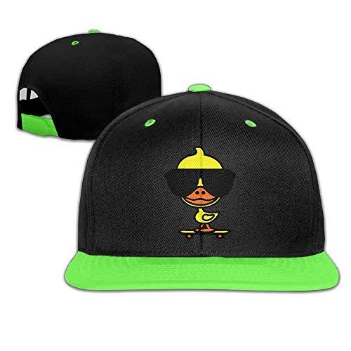 RGFJJE Hüte,Kappen Mützen Adjustable Baseball Youth Caps Hip Hop Hats Cl Duck On Skateboard Boy-Girl