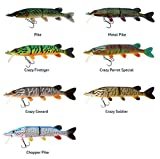 WestinMike The Pike Real Swimbait Low Floating Crazy Parrot Specia