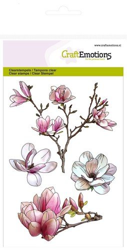 CraftEmotions clearstamps A6 - Magnolie Spring Time
