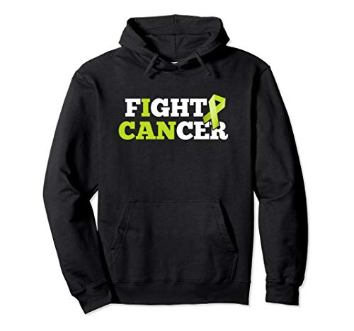 Fight Cancer Non-Hodgkin Lymphoma Lime Green Ribbon Hoodie