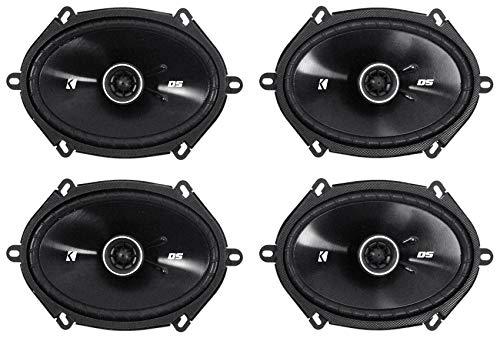 """4) Kicker 43DSC6804 D-Series 6x8"""" 200 Watt 2-Way 4-Ohm Car Coaxial Speakers Four"""