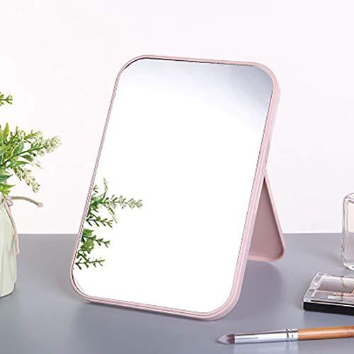DE-FR Pliant grand miroir cosmétique portable carré haute définition haute définition (couleur: rose)