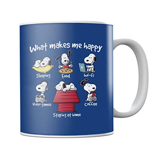 Cloud City 7 Snoopy Staying at Home Makes Me Happy Mug