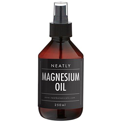 Magnesiumöl Spray von Neatly I Spray Magnesiumchlorid 250 ml I Vitalspray mit Magnesium 100{6141b969fcd892954a61475ce63fc423e496582d6161795f9b5c29f043832d76} Bio I Magnesium Creme & Alternative I Flüssiges Magnesium für die Haut I Für den Sport geeignet