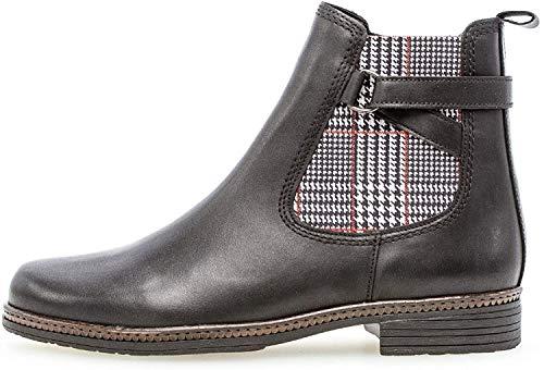 Gabor Damen Stiefelette 34.670, Frauen Chelsea Boots,Stiefel,Halbstiefel,Bootie,Schlupfstiefel,flach,schwarz (Kombi),41 EU / 7.5 UK