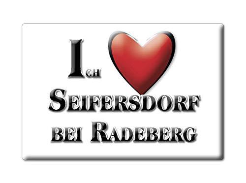 Enjoymagnets SEIFERSDORF BEI RADEBERG (SN) Souvenir Deutschland Sachsen Fridge Magnet KÜHLSCHRANK Magnet ICH Liebe I Love
