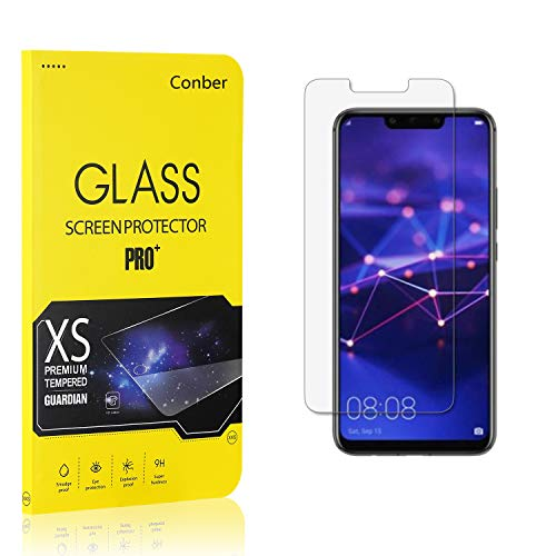 Conber (1 Pack) Screen Protector for Huawei Mate 20 Lite, [Scratch-Resistant][Anti-Shatter][Case Friendly] Premium Tempered Glass Screen Protector for Huawei Mate 20 Lite
