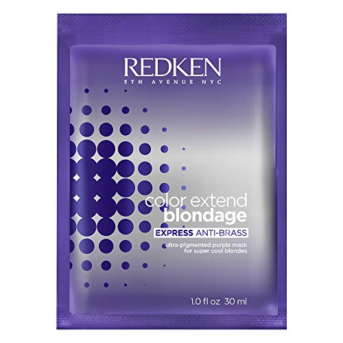 Redken Color Extend Blondage Express Anti-Brass Hair Mask   For Blonde & Highlighted Hair   Hair Toner   Ultra-Pigmented Purple Hair Mask For Blonde Hair