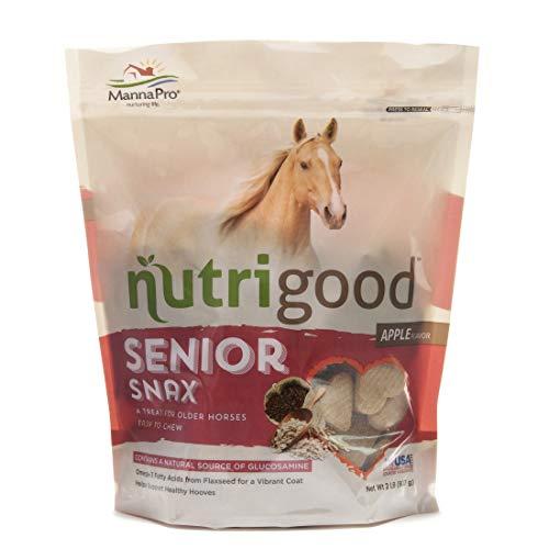 Nutrigood Senior Snax Horse Treats | Made with Omega 3 Fatty Acids, Biotin, and Glucosamine | 2 Pounds