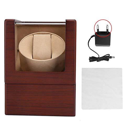 Hacrft Reloj Box Watch Automatic Winder Box Mostrar Caja de Almacenamiento para Reloj de Pulsera Mecánico Sin Batería 100-220VEU