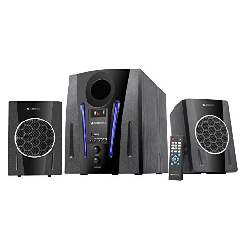 Zebronics ZEB-BT2150RUF 2.1 Multimedia Speaker with Bluetooth Supporting USB,AUX,Built in FM and Remote Control