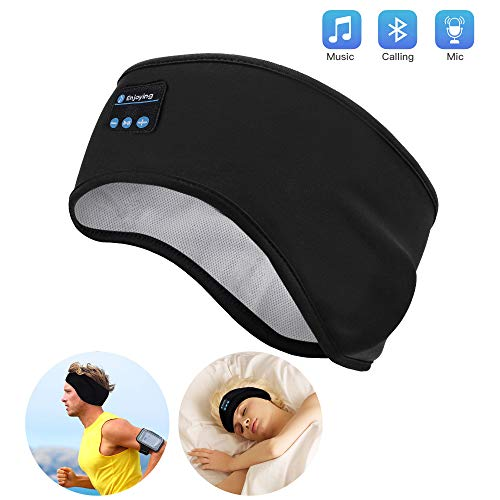 Schlaf Kopfhörer Ohrstöpsel - Navly Bluetooth V5.0 Sport Stirnband Kopfhörer mit Ultradünnen HD Stereo Lautsprecher,Perfekt für Sport, Seitenschläfer, Flugreisen, Meditation und Entspannung