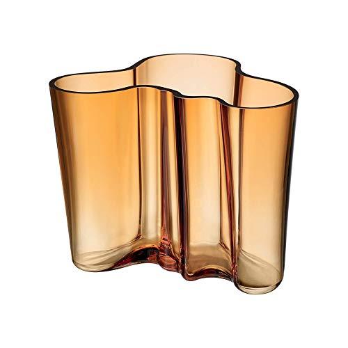 Iittala Alvar Aalto Collection Vase - Glas mundgeblasen, Braun (wüste), 160 mm
