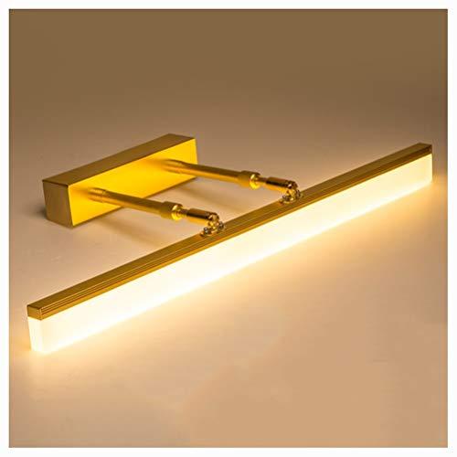 NIUZIMU spiegellampen LED Nordic spiegel schijnwerper, badkamerspiegel kasten eenvoudige waterdichte anti-condens inschuifbare moderne badkamerspiegel koplamp -0223