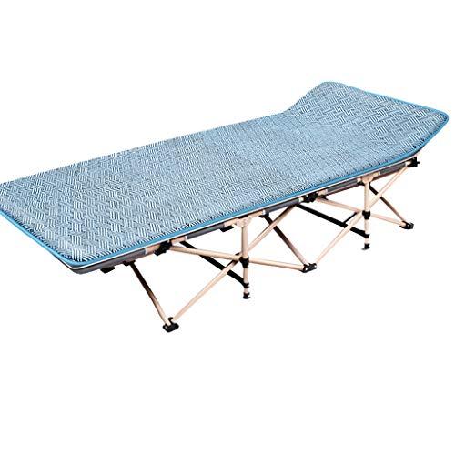 Lit pliant à un lit à la maison Lit de déjeuner Siesta Lounge Office, élargissant et augmentant un seul côté de la soie de glace Installation libre