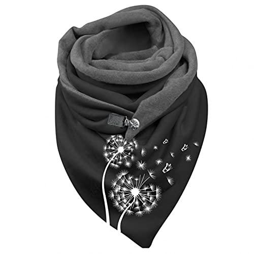 Eaylis Mode Frauen Druckknopf Soft Wrap Lässige Warme Schals Schals, Elegant wickelschal mit Damen knopf Lässig Herbst Winter Schal Halstücher Poncho Weicher Shawl Schal