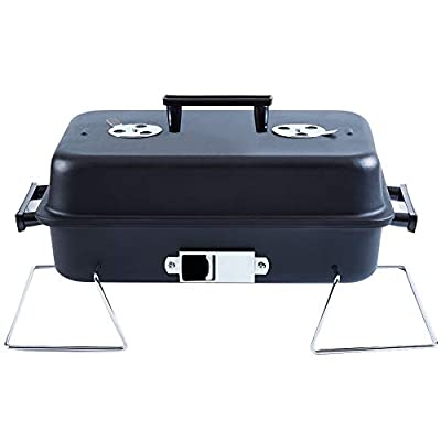 ISUMER Portable Charcoal Grill with Lid Folding Tabletop BBQ Grill Barbecue Brill for Outdoor Cooking Camping Picnic Patio Backyard Cooking