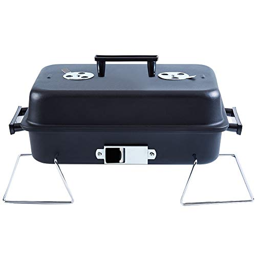ISUMER Portable Charcoal Grill with Lid Folding Tabletop BBQ Grill Barbecue Grill for Outdoor Cooking Camping Picnic Patio Backyard Cooking