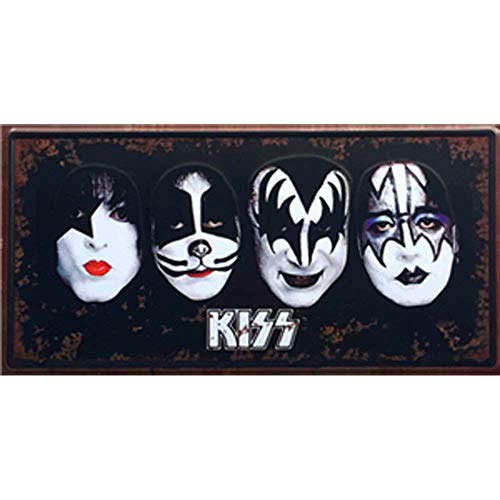 Shunry Kiss Placa Cartel Vintage Estaño Signo Metal De Pared Póster Retro De Chapa Póster por Bar Café Garaje Gasolinera Casa Club