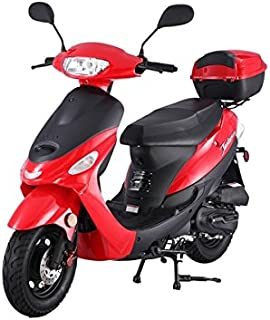 TaoTao ATM-50A1 BLACK 49cc Gas Automatic Scooter Moped w/ 10 Inch Steel Rims