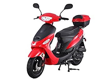 TAO SMART DEALSNOW Brings Brand New 50cc Gas Fully Automatic Street Legal Scooter TaoTao ATM50-A1 with Matching trunk - BOLD RED Color