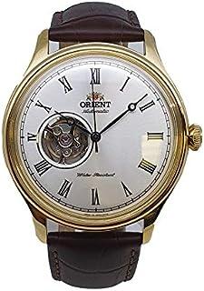 ساعة اوتوماتيكية اوبين هارت بحزام جلد ذهبي موديل SAG00002W0 من اورينت