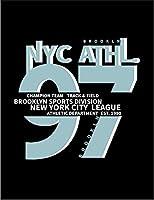 【ブルックリン ニューヨーク NYC】 余白部分にオリジナルメッセージお入れします!ポストカード・はがき(黒背景)